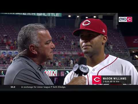 Newcomer Mason Williams hits the go ahead home run in his first start with the Reds