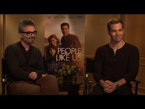 "Chris Pine and Director Alex Kurtzman Talk People Like Us and ""Talented"" Elizabeth Banks"