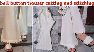 Bell Bottom Trouser Cutting And Stitching    Bell Bottom Pant Making By Alisha Designing