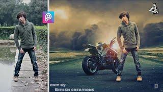 picsart background change,picsart editing, picsart bike, picsart beat editing, how to edit photo,