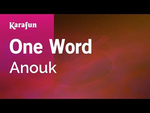 Karaoke One Word - Anouk *