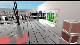 ROBLOX STUDIOS| Boutique speed build
