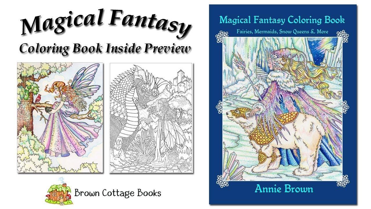 magical fantasy coloring book preview by annie brown mermaids maidens fairies fantasy flip through - Fantasy Coloring Book