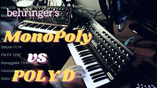 Behringer MonoPoly vs. Poly D (Review/Comparison)