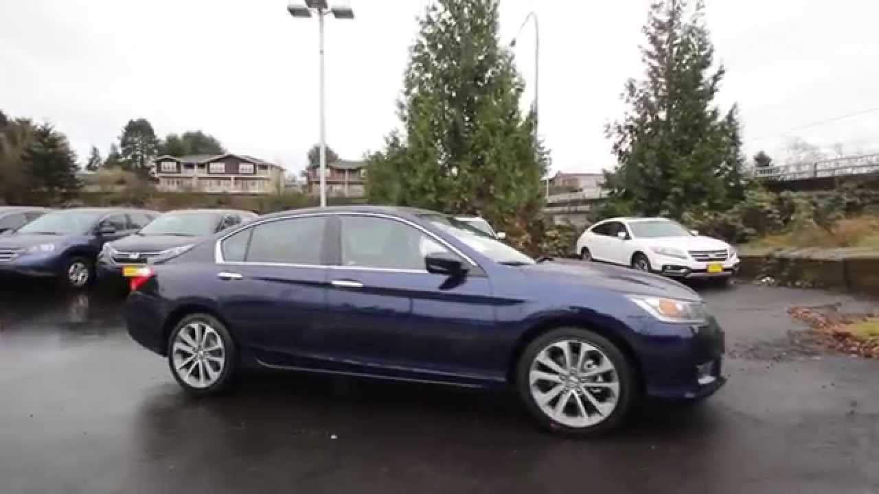 Honda Of Seattle >> 2015 Honda Accord Sport | Obsidian Blue | FA075669 ...