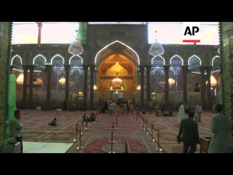 Security precautions taken by military forces and Shiite's to protect holy shrines