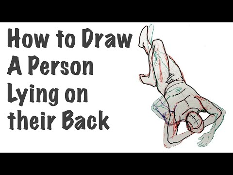 How To Draw A Person Lying On Their Back   Tutorial Lesson