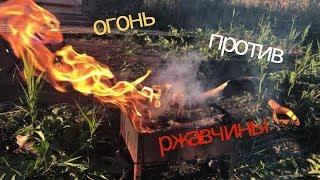 ЭКСПЕРИМЕНТ огонь против ржавчины ( чистим подковы)EXPERIMENT fire against rust