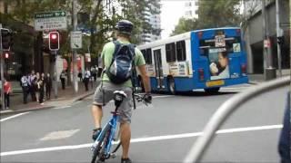 cyclist blocking pedestrian crossing