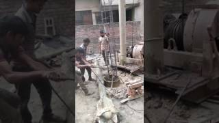 Piling work in Bangladesh: Boring and caging