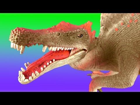DINOSAUR Fight SPINOSAURUS vs TYRANNOSAURUS  Battle T rex Jurassic Dino Kids Toys SuperFunReviews