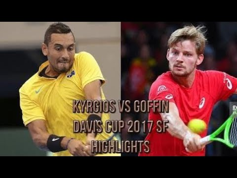 Nick Kyrgios (AUS) Vs David Goffin (BEL) - Davis Cup 2017 SF (Highlights HD)