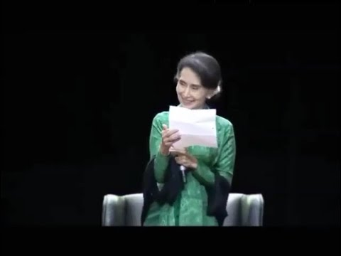 Aung San Suu Kyi laughs out loud at Rohingya genocide allegations