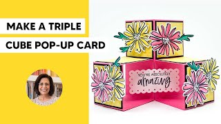 🔴 How to Mąke a Triple Cube Pop Up Card with Mind Blowing Ease