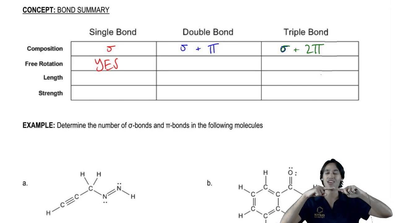 Single Bonds Double Bonds And Triple Bonds Youtube