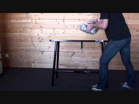 Geliefde Powerplustools inklapbare werkbank met houten werkblad - YouTube CM99