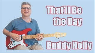 That'll Be the Day guitar solo lesson | With TAB