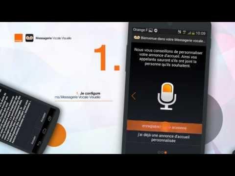 L'application messagerie vocale visuelle d'Orange