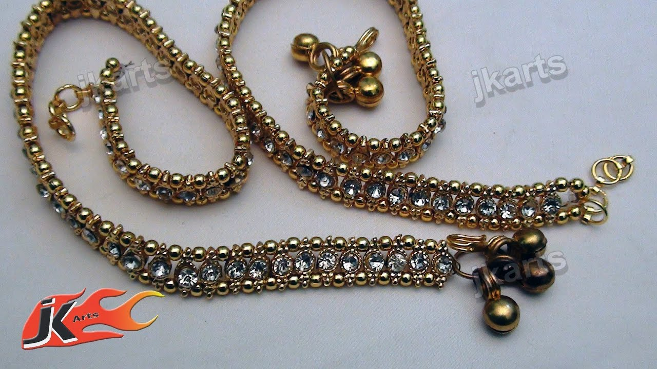 diy wedding jwellery payal anklet making arts jk youtube watch