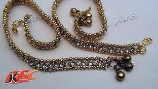 DIY  Wedding Jwellery Making - Payal (Anklet) - JK Arts  147