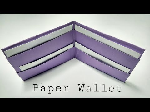 Origami Paper Wallet Tutorial || How to make Paper Wallet without Glue