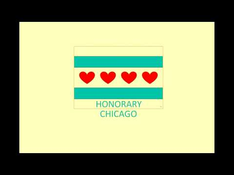 Animated Honorary Chicago Flag from City of Chicago Flag
