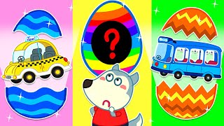Wolfoo Plays with Car Toys in Surprise Eggs | Wolfoo Family Kids Cartoon