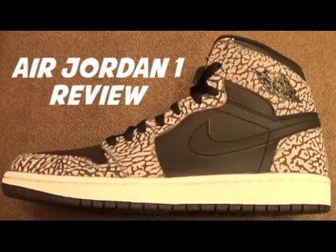 "Air Jordan  1 ""Un-Supreme"" Elephant Print High Sneaker Review"