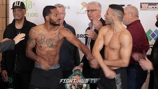 ANTHONY DIRRELL & AVNI YILIDRIM ALMOST GET INTO IT AFTER FACE OFF AT WEIGH IN!