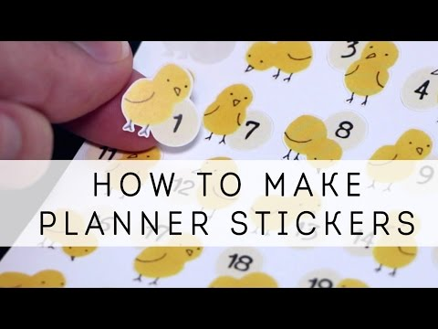 How to Make Planner/Bullet Journal Stickers - Step by Step Guide