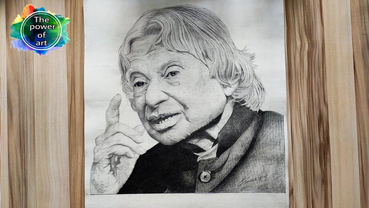 Dr. Apj abdul kalam Drawing // time laps // pencil Drawing ...