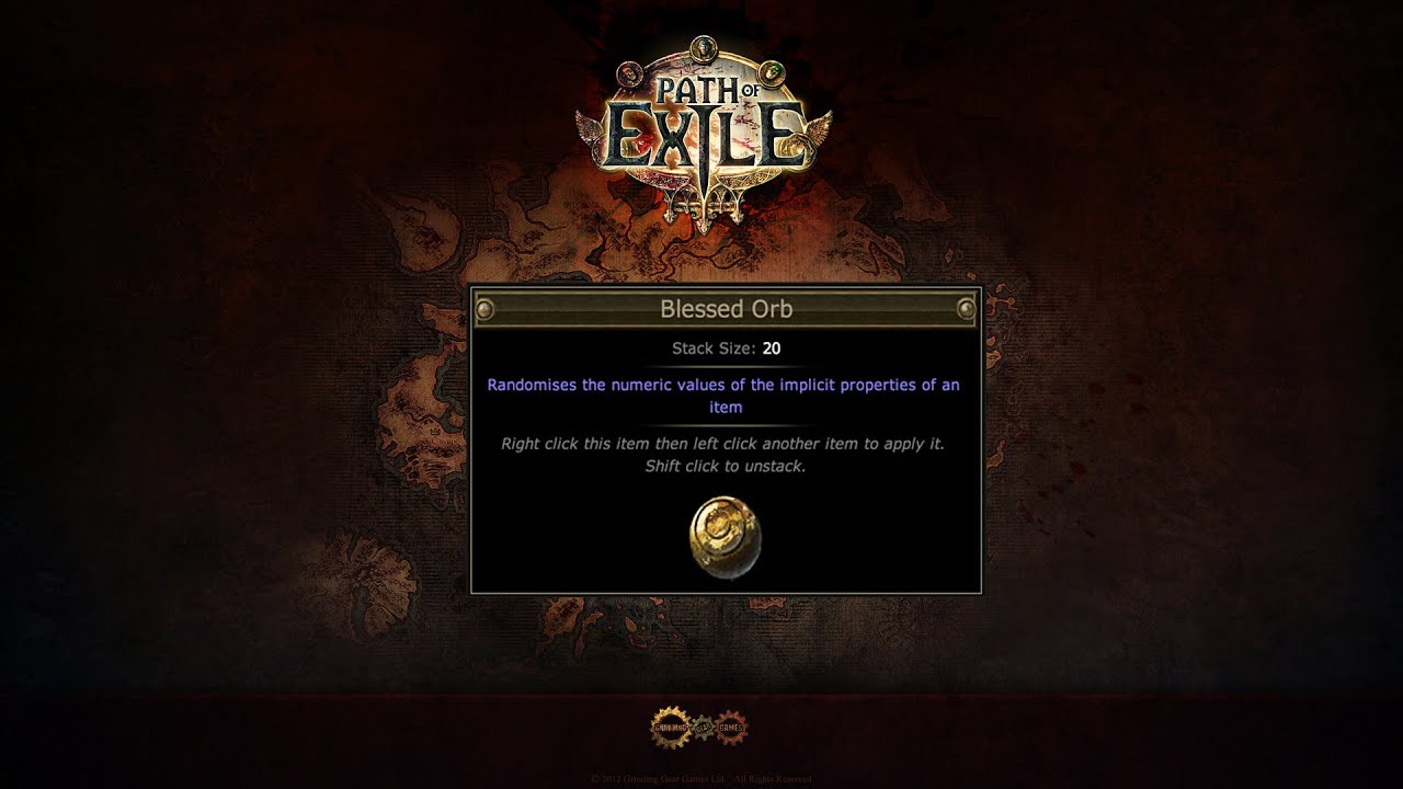 path of exile การใช blessed orb youtube