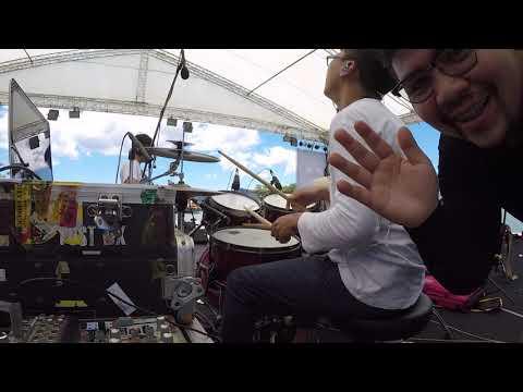 NEW JIEW BAND SOUND CHECK @SAMUI MUSIC FESTIVAL (Mong Postbox Drum Cam)