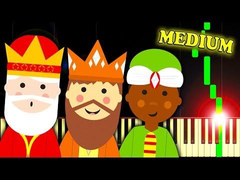 WE THREE KINGS (Christmas Carol) - Piano Tutorial