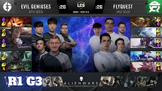 FlyQuest vs Evil Geniuses - Game 3   Round 1 Playoffs S10 LCS Summer 2020   FLY vs EG G3