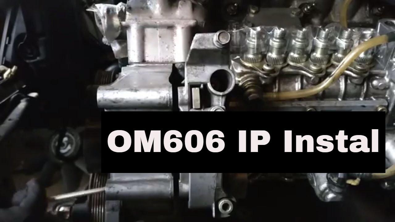 OM606 Swap 17: Installing om606 Injection Pump