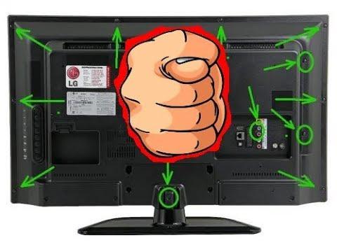 Как разобрать телевизор  LG 49LK5100PLB. не повредив матрицу.