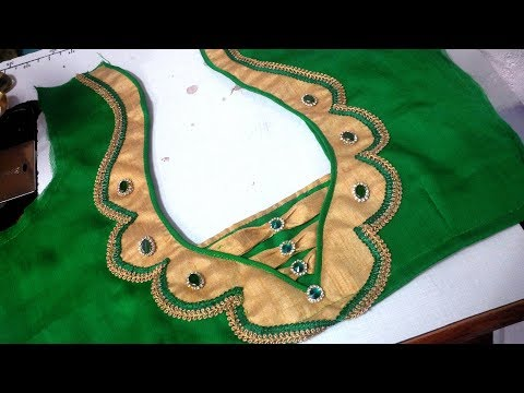 easy  blouse design cutting and stitching at home 2017