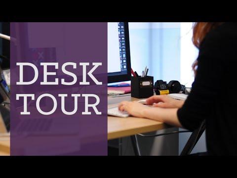 Desk tour! My design workspace | CharliMarieTV