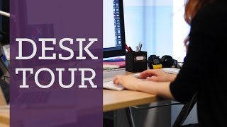 Desk Tour! My Design Workspace | Charlimarietv
