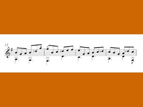 Free classical guitar sheet music - Johann Sebastian, free sheet music for guitar