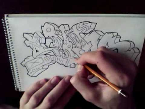 Graffiti drawing STAR - YouTube Graffiti Stars Drawings