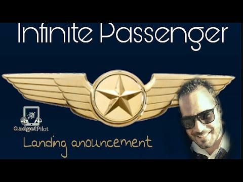 Infinite passenger/Landing anouncement