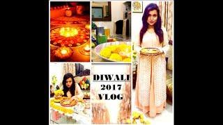 DIWALI VLOG 2017    HOUSE DECORATION , FOOD AND CELEBRATION