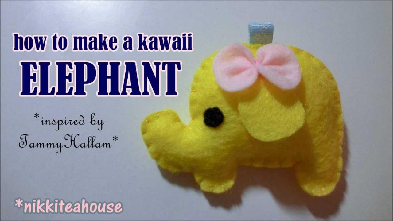 How to make a kawaii elephant plushie tutorial youtube how to make a kawaii elephant plushie tutorial jeuxipadfo Choice Image