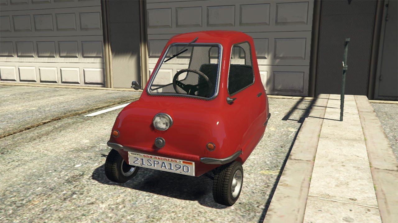 Gta 5 Peel P50 Smallest Car Mod Youtube