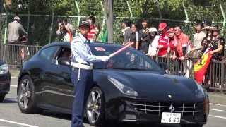 F1 Japan Suzuka 2013 日本GP 鈴鹿 フェルナンド・アロンソ出勤