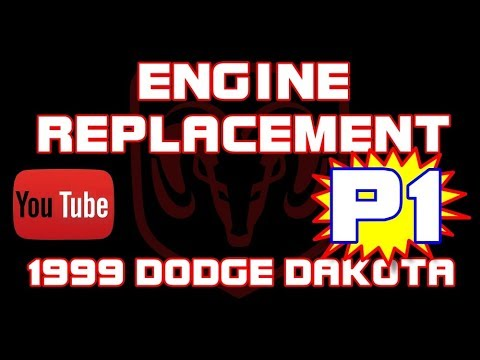 ⭐ 1999 Dodge Dakota Sport - 3.9 - Engine Replacement - PART 1