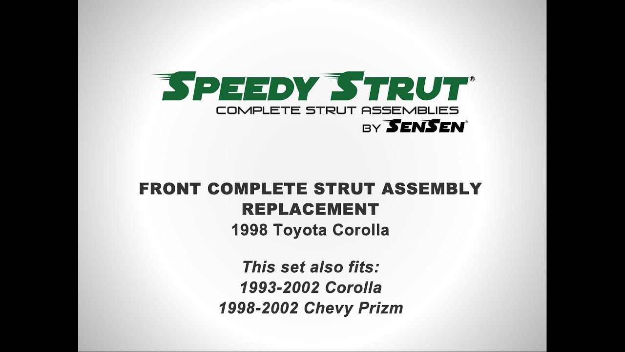 Replacement of Front Complete Strut Assemblies on a 1998 Toyota Corolla I  Sensen Shocks & Struts