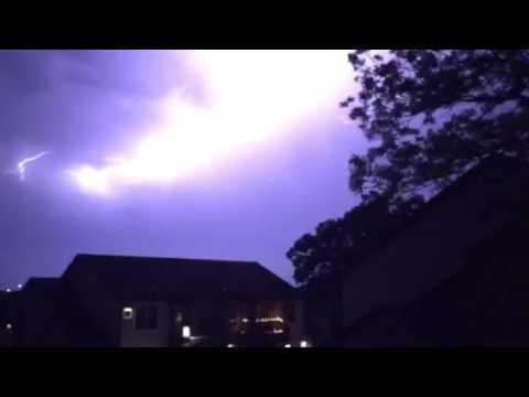 Austin TX Lightning 5/27/16 Iphone 6 slowmo 240fps